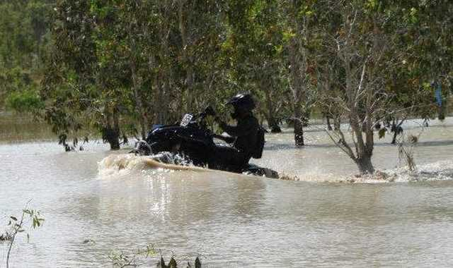 Swampy waters in the NT are part of the track