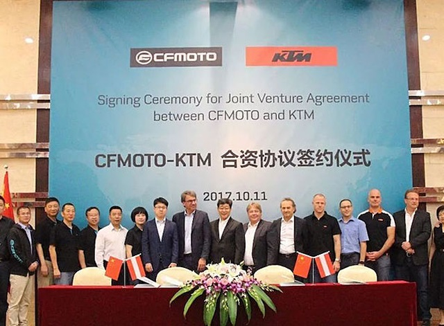CFMoto and KTM enter new joint venture
